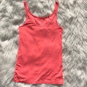 🎈GAP Women's Neon Coral Essential Cami Tank Top